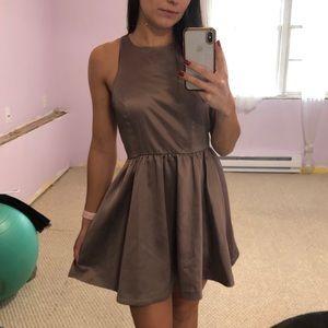 Open Back satin Formal dress